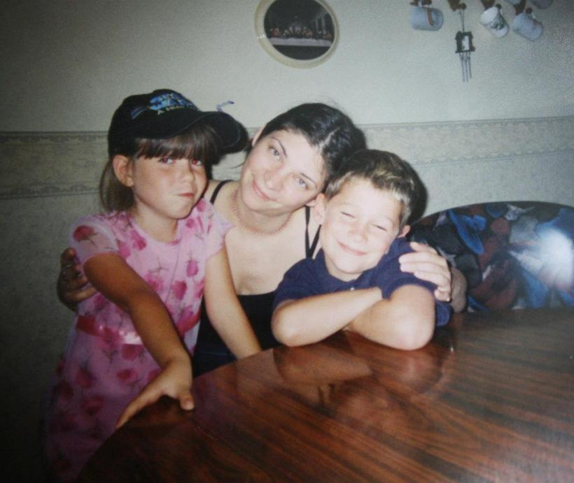 Me, my aunt, my brother, years ago.